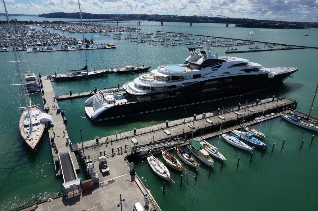 134m Super Yacht Serene Docked In Auckland S Silo Marina