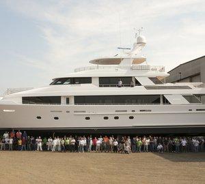 Launch of 40 Metre Series Motor Yacht Hull #12 by WESTPORT