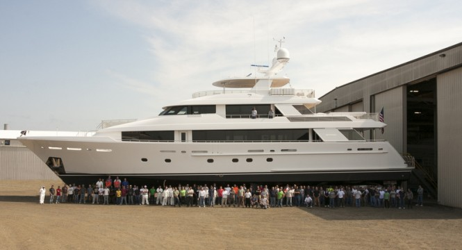 40 Metre Series Super Yacht Hull no. 12 by Westport at launch