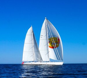 Super-fast Sailing Yacht MARI CHA III fitted with custom carbon Doyle Stratis ICE sails