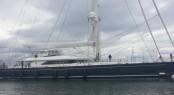 45m Perini Navi super yacht Clan VIII at Dun Laoghaire Marina in Dublin