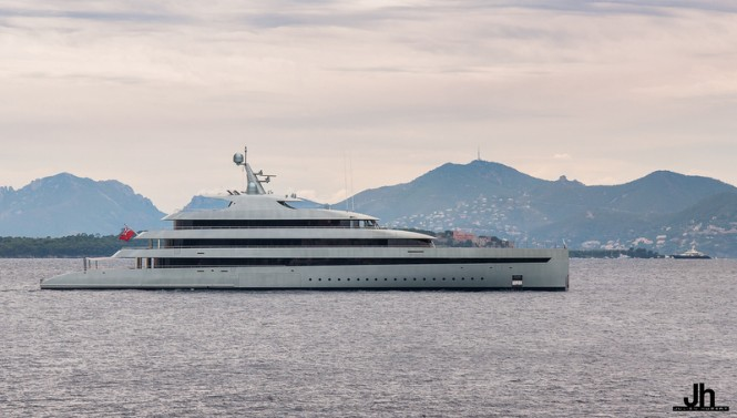83,5m FEADSHIP Mega Yacht SAVANNAH - Photo by Julien Hubert
