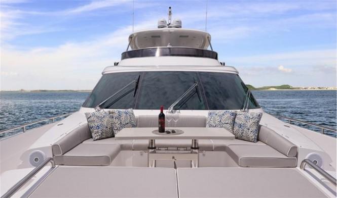 Aboard Horizon motor yacht E88 open flybridge