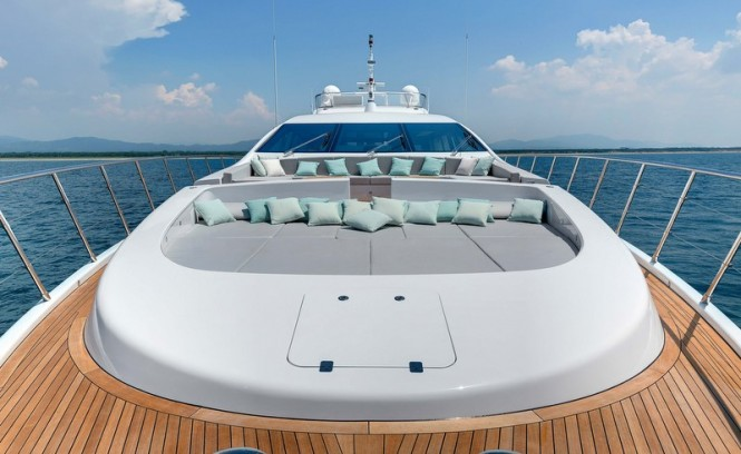 Aboard second Mangusta 110 superyacht - Photo credit to Overmarine Group