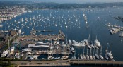 Aerial view of Newport Bucket Regatta - Photo by Billy Black