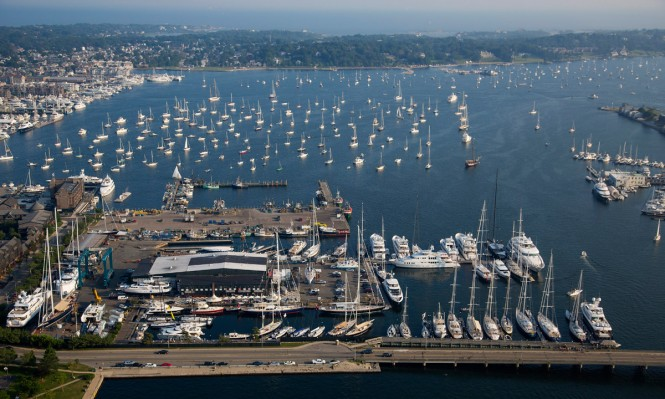 Aerial view of Newport Bucket Regatta - Photo by Billy Black