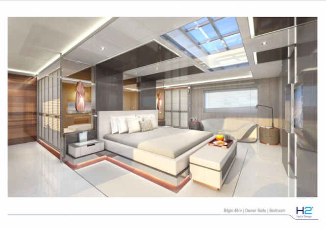 Bilgin 156 superyacht - Owner suite