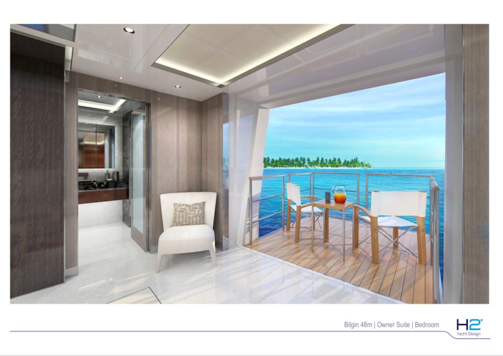 Bilgin 48m Owner Private Balcony