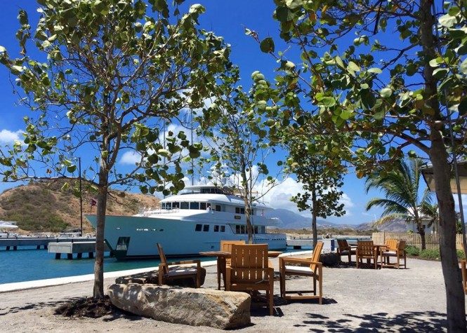 Burger superyacht INGOT at Christophe Harbour in St Kitts and Nevis - Image credit to Christophe Harbour
