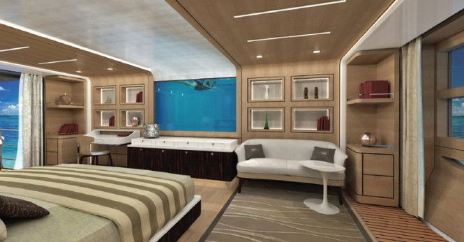 Explorer 40M Wide Bow superyacht - Owners Cabin