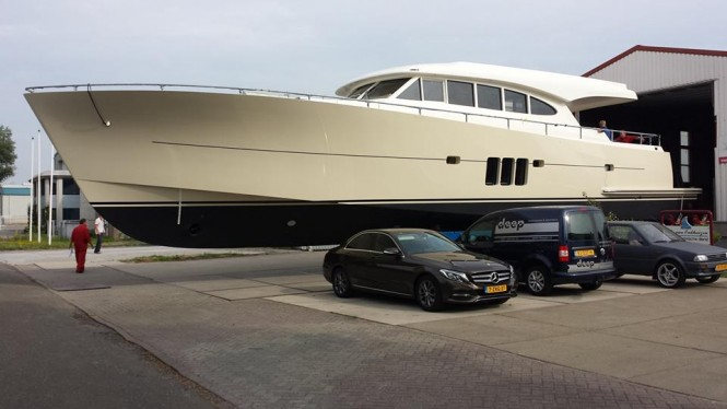 First Sossego Comfort 22 Yacht FALCON VII at launch - Photo by Sossego Yachts