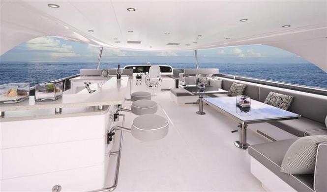 Horizon E88 open flybridge superyacht - Exterior