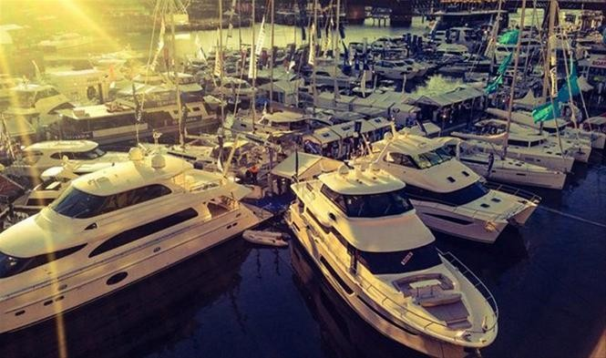 Horizon's display of luxury motor yachts at the 46th Sydney Boat Show