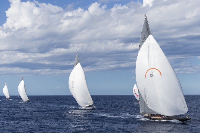 J Class racing during Maxi Yacht Rolex Cup 2014