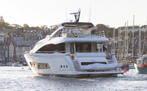 Luxury superyacht CHERRY - aft view