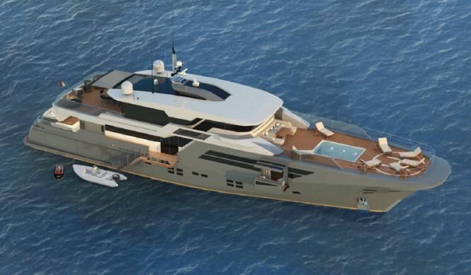 Luxury superyacht Explorer 40M Wide Bow
