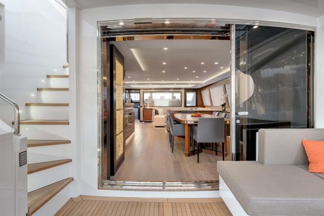 Luxury superyacht Mangusta 132 exteriors