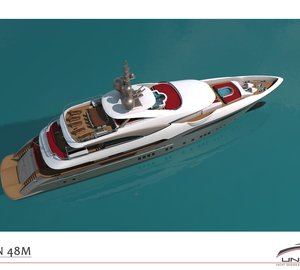 Additional Renderings of 48m Motor Yacht BILGIN 156 Under Construction at Bilgin Yachts in Turkey