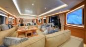 Majesty 135 Superyacht - Main Saloon