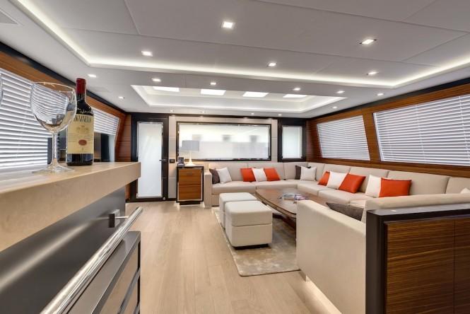 Mangusta 132 Yacht - Interior Saloon