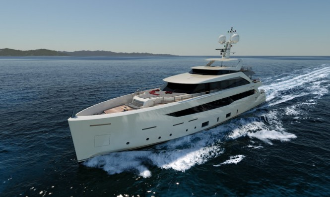 Mondomarine SF40 motor yacht SERENITY