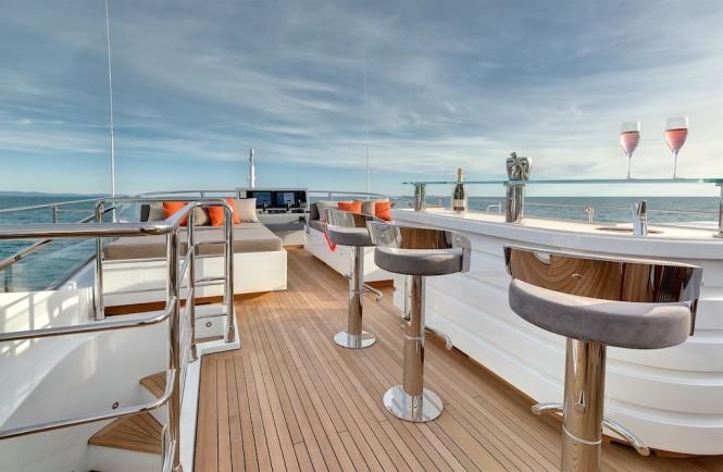 Motor Yacht Mangusta 132 exteriors