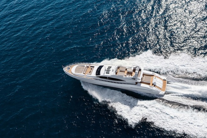 Motor Yacht Mangusta 132 from above