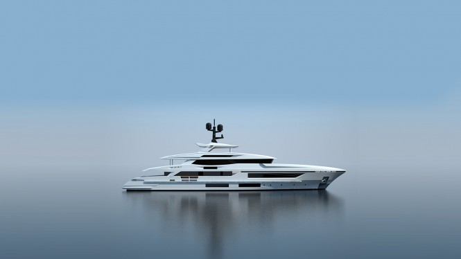 New 48m Baglietto displacement yacht - side view