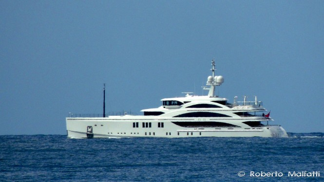 New 63m FB265 Superyacht 1111 by BENETTI underway in Livorno, Italy - Photo by Roberto Malfatti