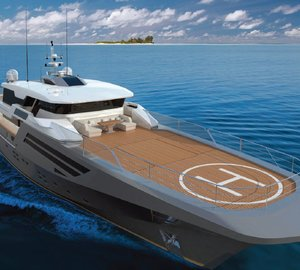 New Explorer 40M Wide Bow Superyacht Design by Andrea Borzelli & Sara Berta Architetti