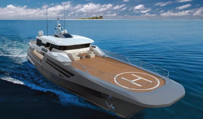 New Explorer 40M Wide Bow Superyacht Design by Andrea Borzelli & Sara Berta Architetti