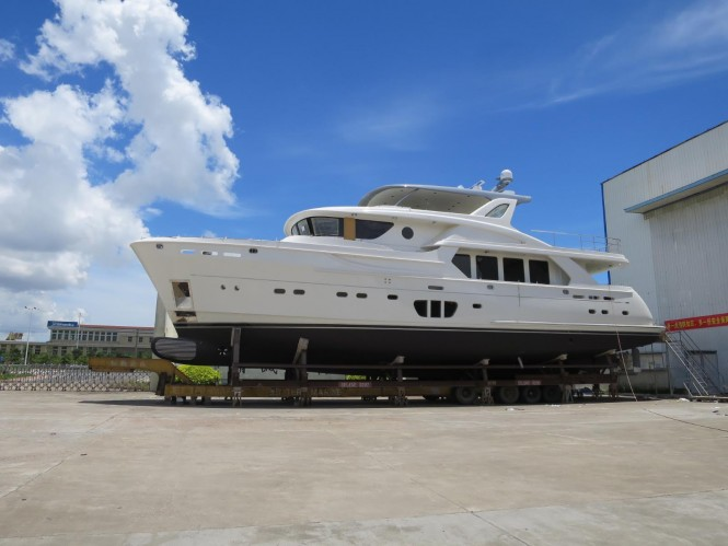 New superyacht Selene 92 nearing launch at Jet Tern Marine in Zhuhai, China