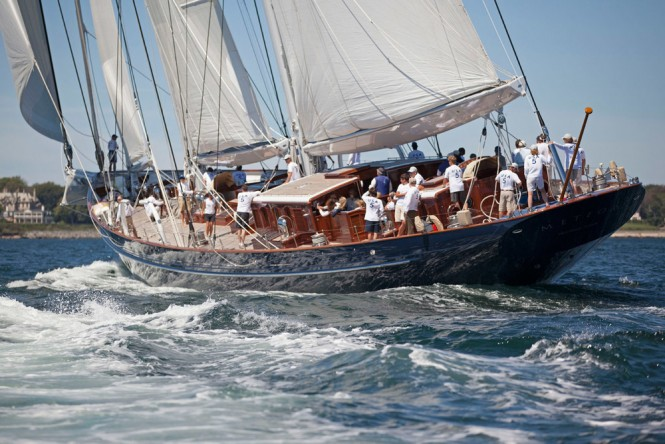 Newport Bucket Participant - Luxury sailing yacht Meteor - Photo by Billy Black