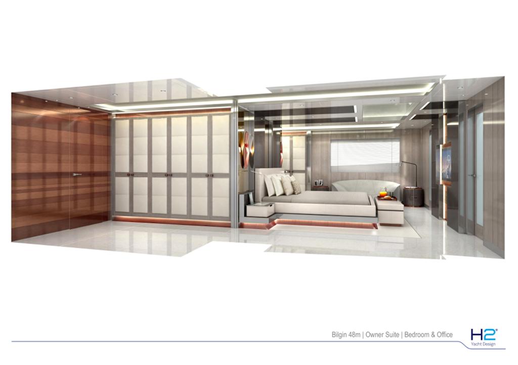Owner suite on Bilgin 48m yacht