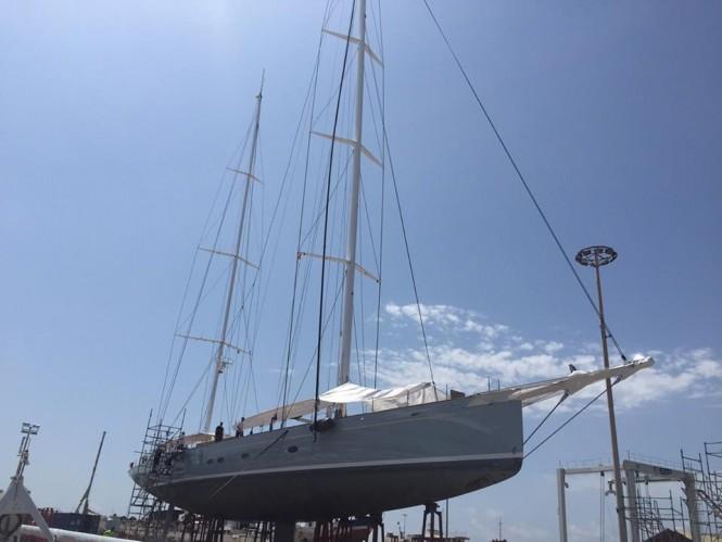 Royal Huisman super yacht ELFJE in STP Shipyard in Palma