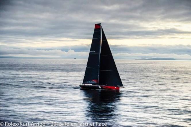 Sailing yacht Comanche at the 2015 Rolex Fastnet Race - Photo by Rolex Kurt Arrigo