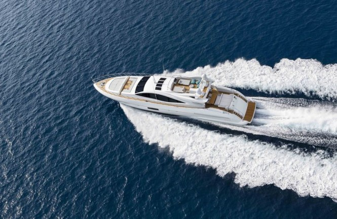 Second Mangusta 110 superyacht from above - Photo by Overmarine Group