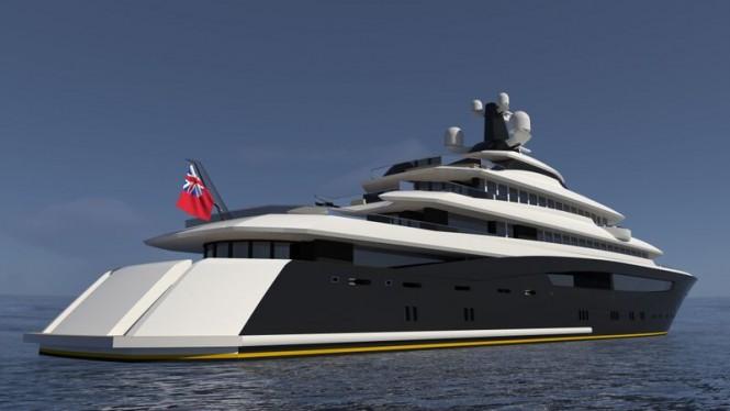 Super yacht ARAGONESE concept - aft view