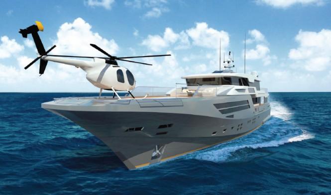 Super yacht Explorer 40M Wide Bow - Helipad