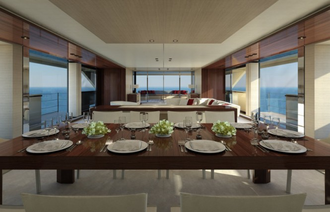 Super yacht SERENITY - Dining