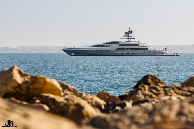 Super yacht SilverFast - Photo by Julien Hubert