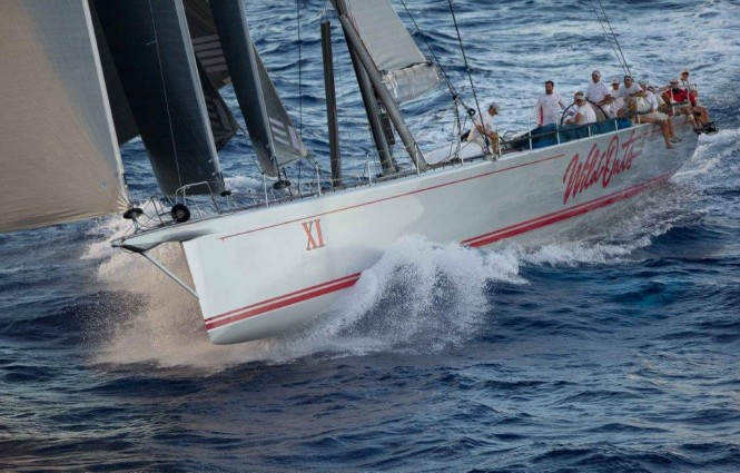 Supermaxi yacht Wild Oats XI under sail - Photo by Sharon Green and Ultimate Sailing