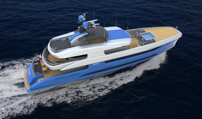 Superyacht FX 360 concept from above