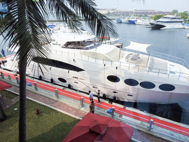 Superyacht Majesty 105 at the Indonesia Yacht Show 2015