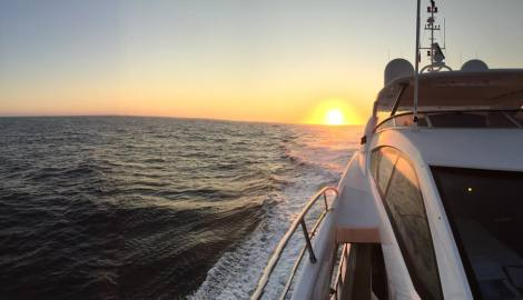 The Sunseeker crew and team were invited to be on board Sunseeker 115 Sport Yacht's maiden voyage