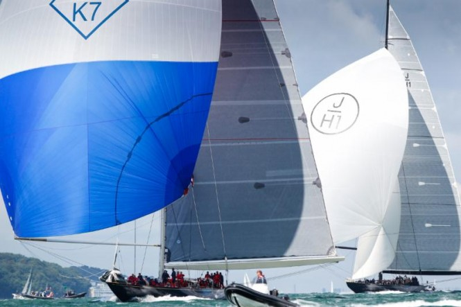 Velsheda was the winning J Class yacht in the RYS Bicentenary International Regatta. The three J's included Ranger and Lionheart, making a fine spectacle on the Solent during the week © Paul Wyeth pwpictures.com