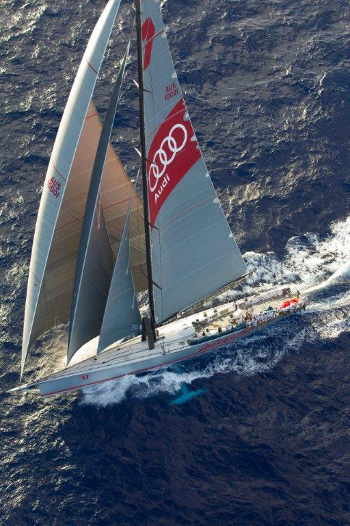 Wild Oats XI Yacht from above - Photo by Sharon Green and Ultimate Sailing