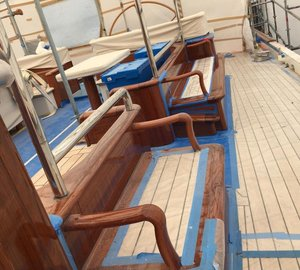 Full Varnish Project Aboard 55m Vitters Super Yacht MARIE by Absolute Boat Care