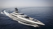 77m mega yacht SILVER FAST by SilverYachts with the new S Class Convertible at full speed