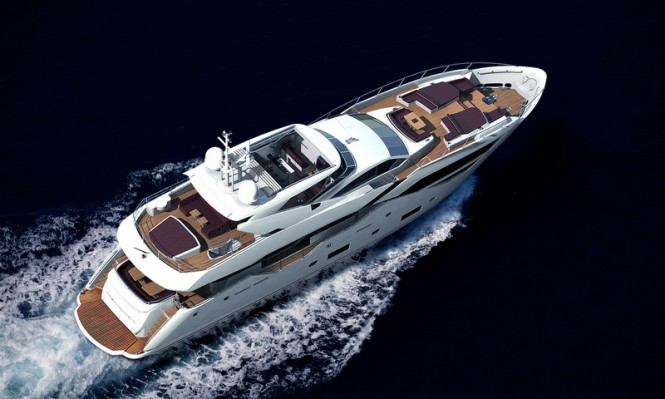Rendering of new Sunseeker 116 Yacht to be powered by MTU engines